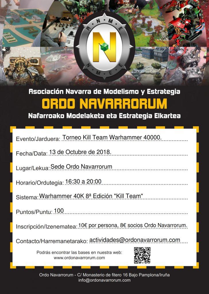 Torneo Kill Team 3er Aniversario Ordo Navarrorum @ Asociación Ordo Navarrorum